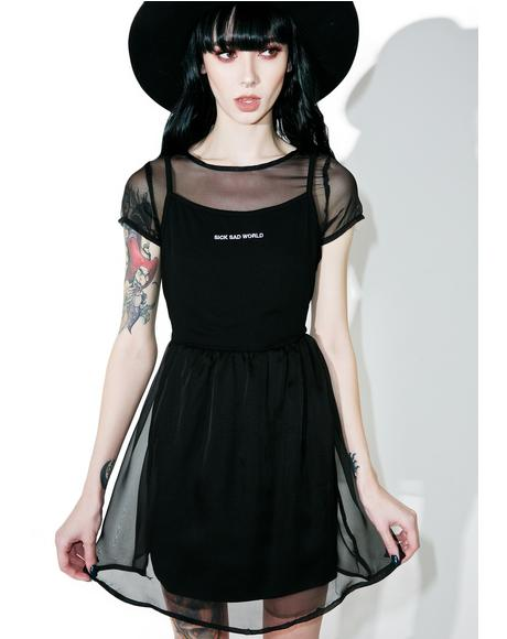 Daria Sheer Tee Dress