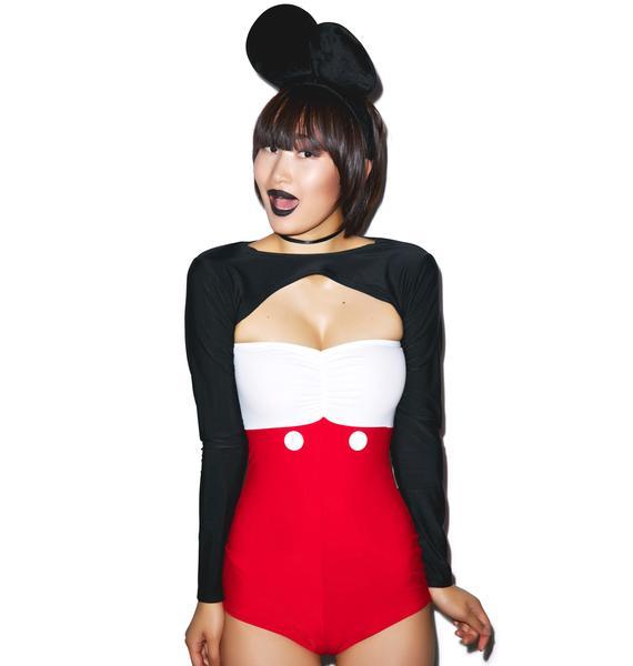 J Valentine Mouseketeer Romper