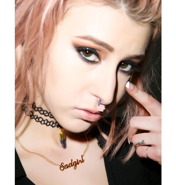 Vidakush Sadgirl Nameplate Choker
