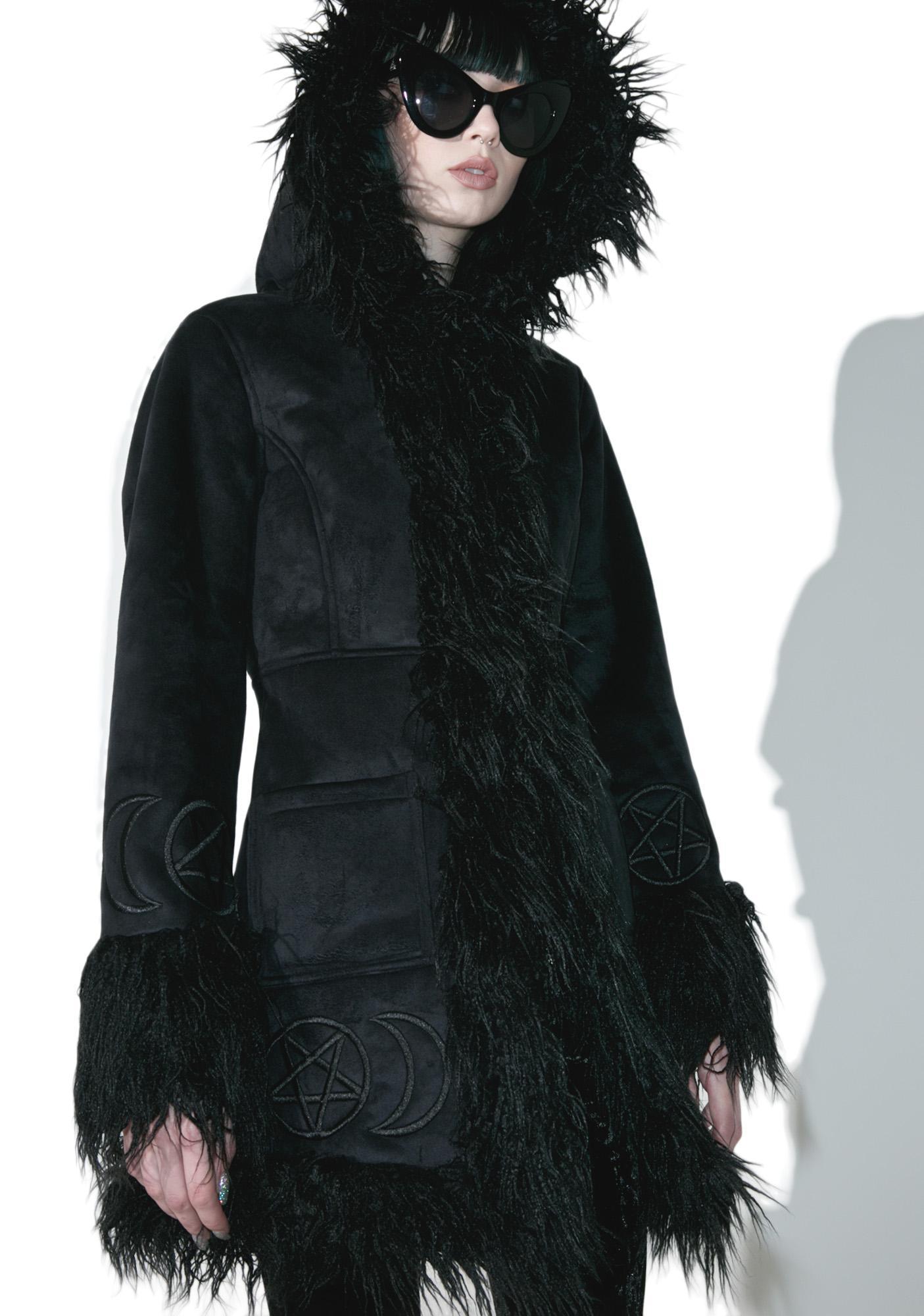 Killstar Die Anna Almost Infamous Shearling Coat