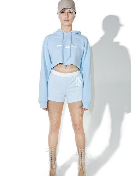 Baby Blue Cropped Hoodie