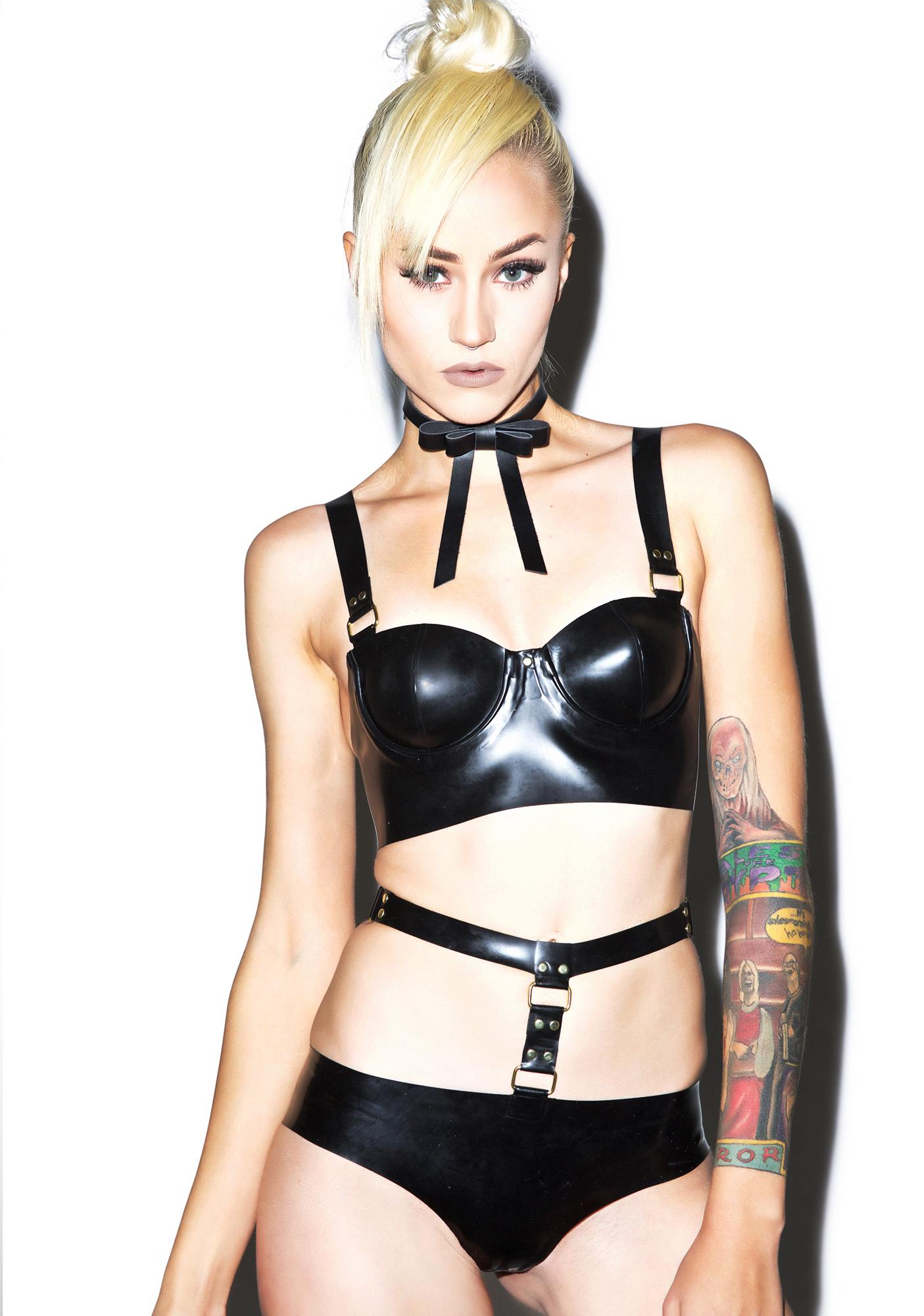 Jane Doe Latex Hardware Harness Set