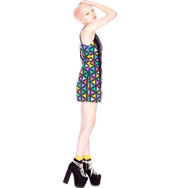 Joyrich x Giza Multi Geometric Dress