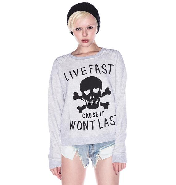 Zoe Karssen Live Fast Cause It Won't Last Sweater