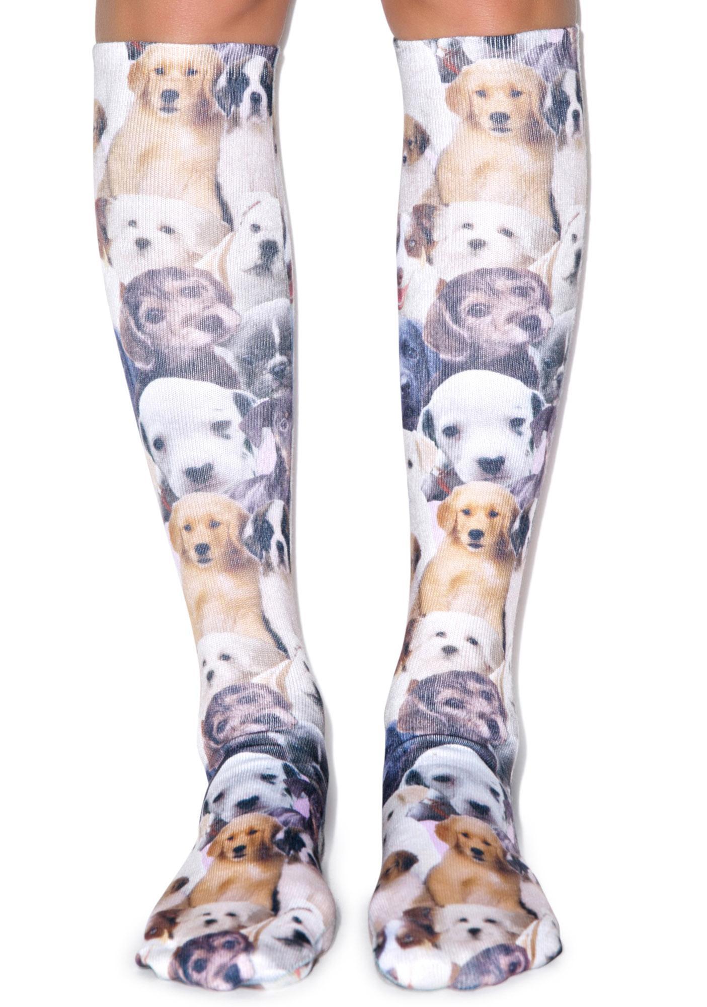 Puppy Love Knee High Socks