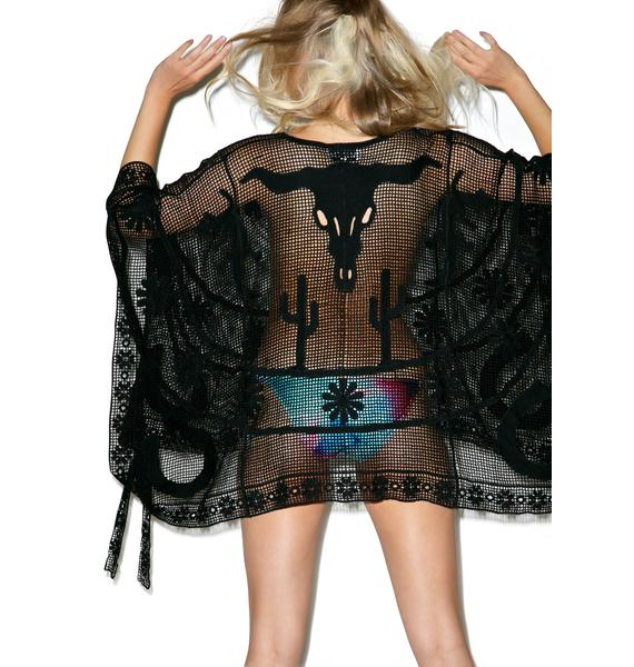 Wildfox Couture Angelene Hands Up Poncho