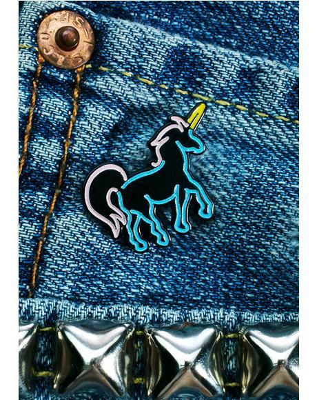 Neon Unicorn Pin