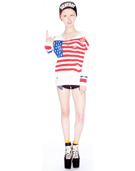 Flag Religion Sweater