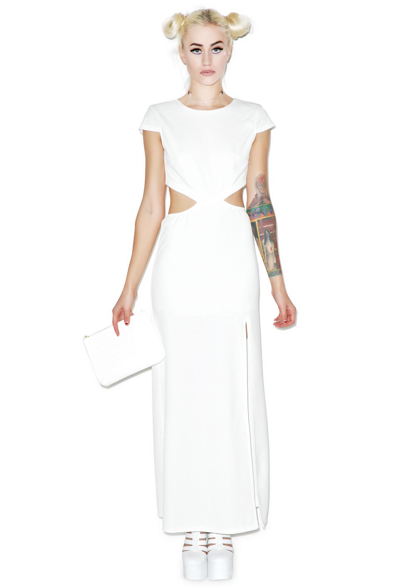 Tiger Mist Cap Sleeve Maxi Dress