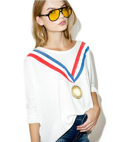 Gold Medal Long Sleeve Tee