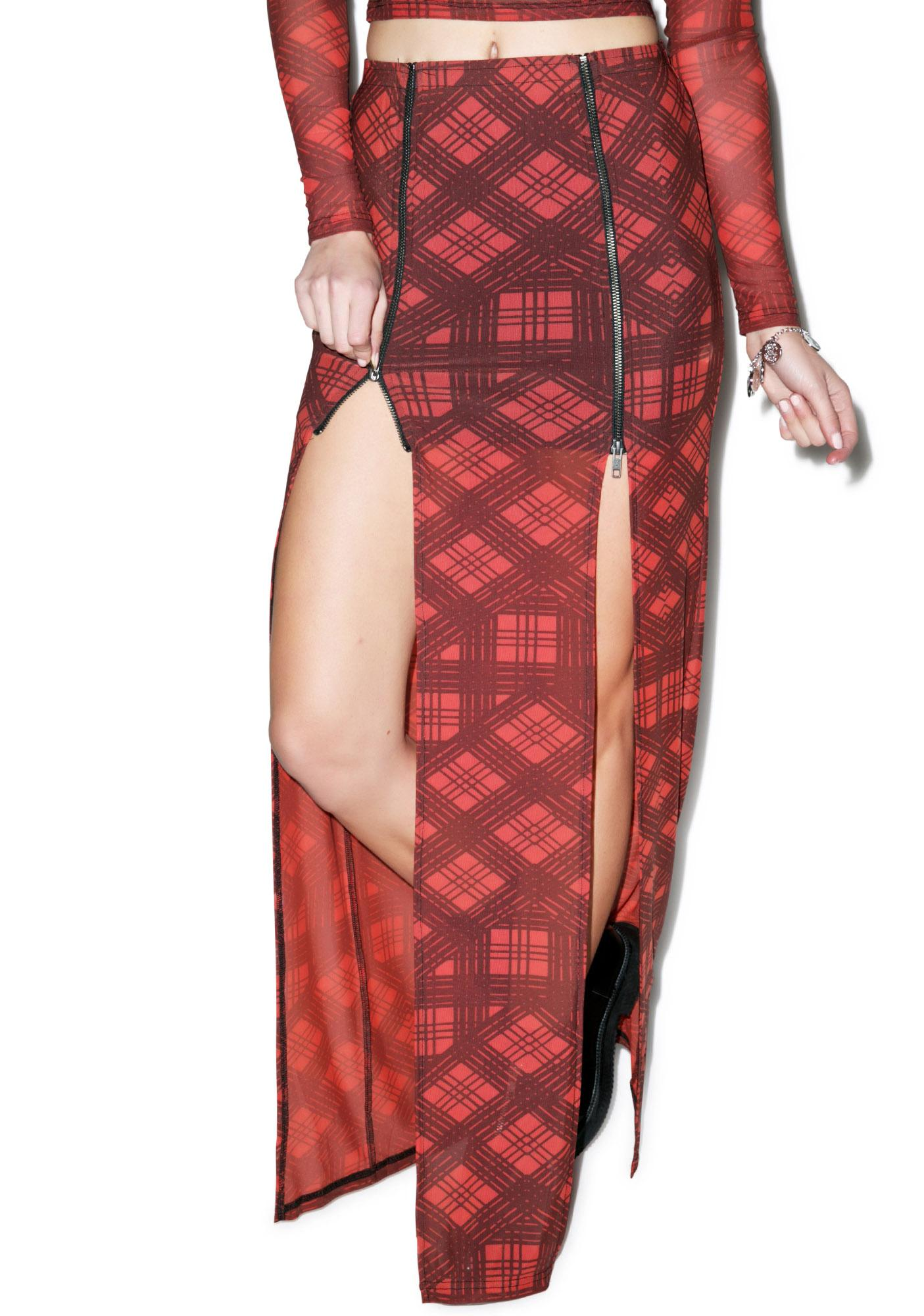 Evil Twin Plaid-ical Maxi Skirt