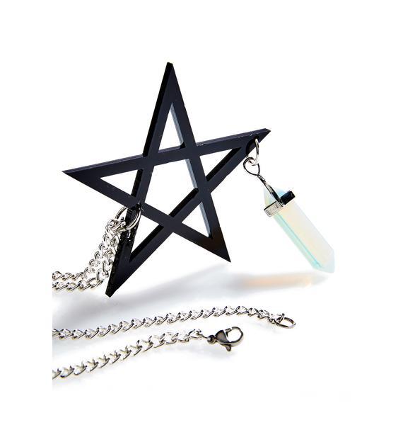 Pentagram Crystal Necklace