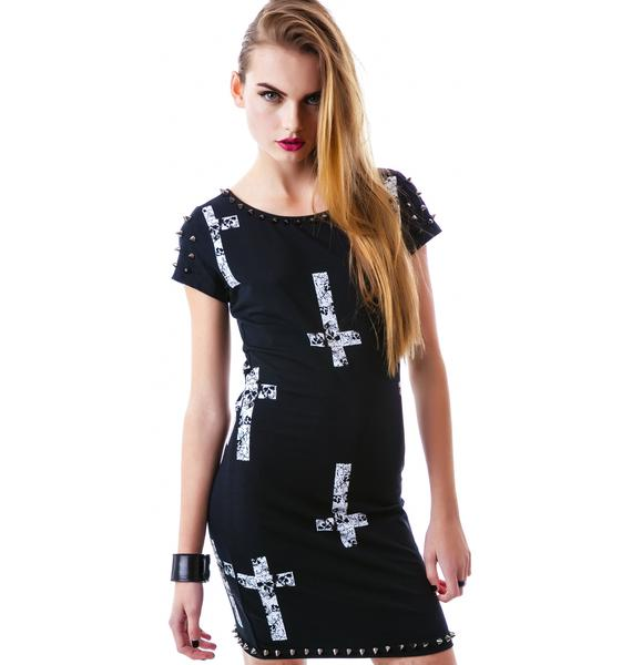 Crossed Skull Studded Dress
