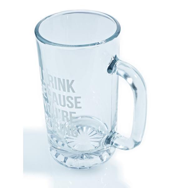 Jac Vanek I Drink Beer Stein