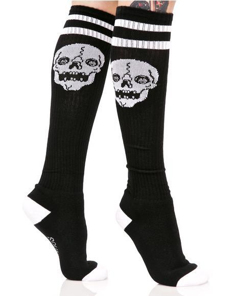 Skelly Knee High Socks