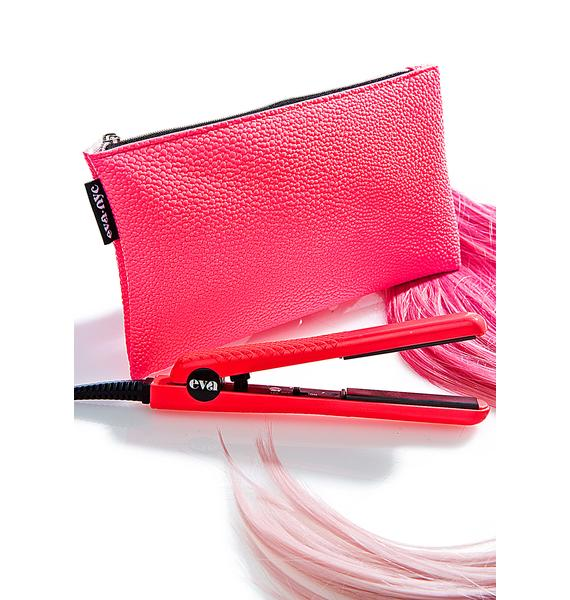 Eva NYC Mini Pink Travel Styling Iron