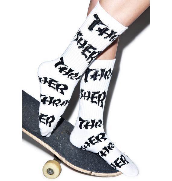 HUF HUF X Thrasher Logo Socks