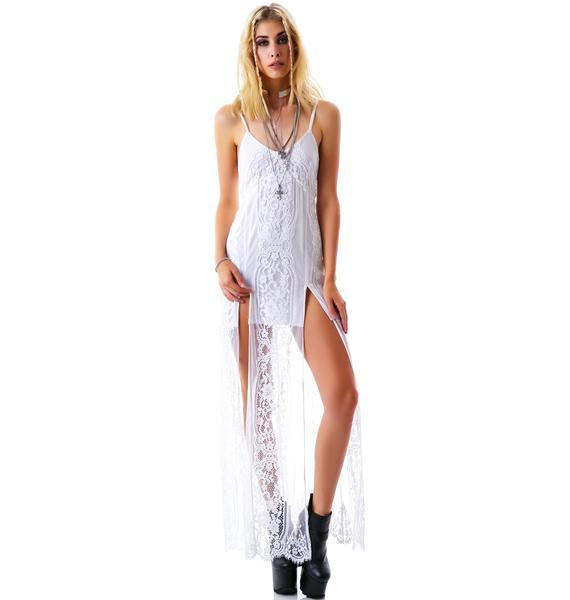 For Love & Lemons Long Horn Maxi Dress