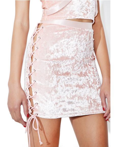 Princess Velvet Crushin' Lace-Up Skirt