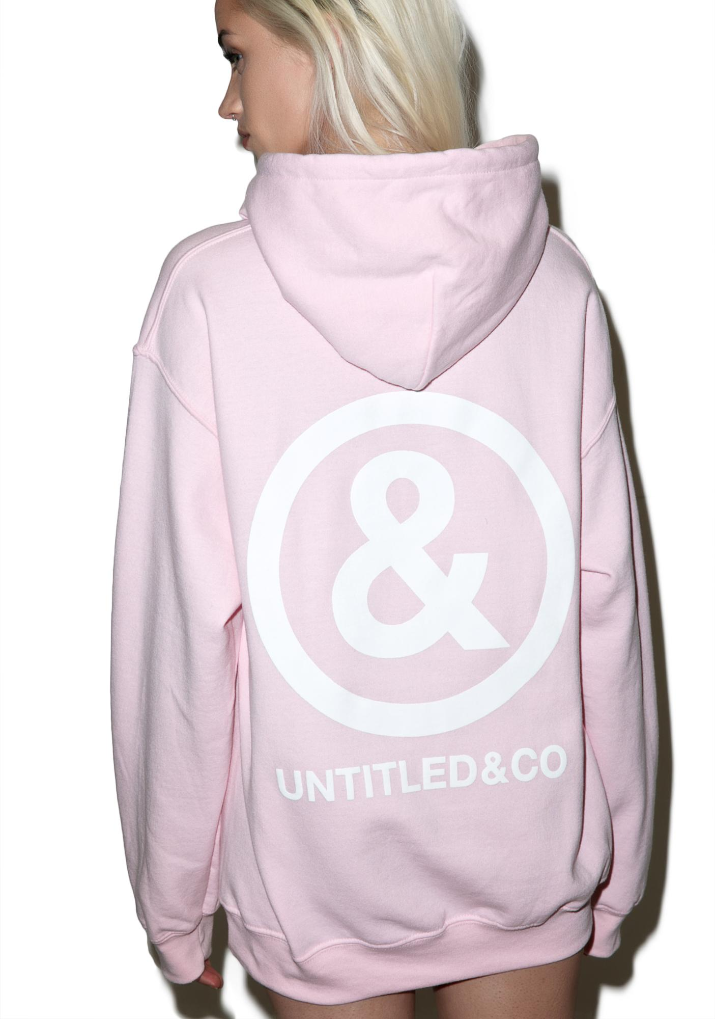 Untitled & Co Baby Pink Logo Hoodie