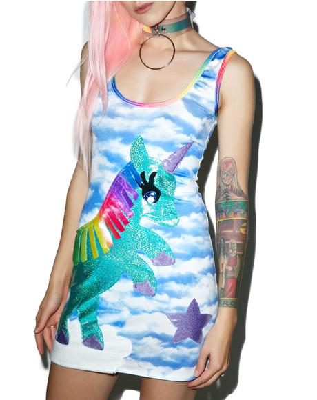 Unicorn Queen Bodycon Dress