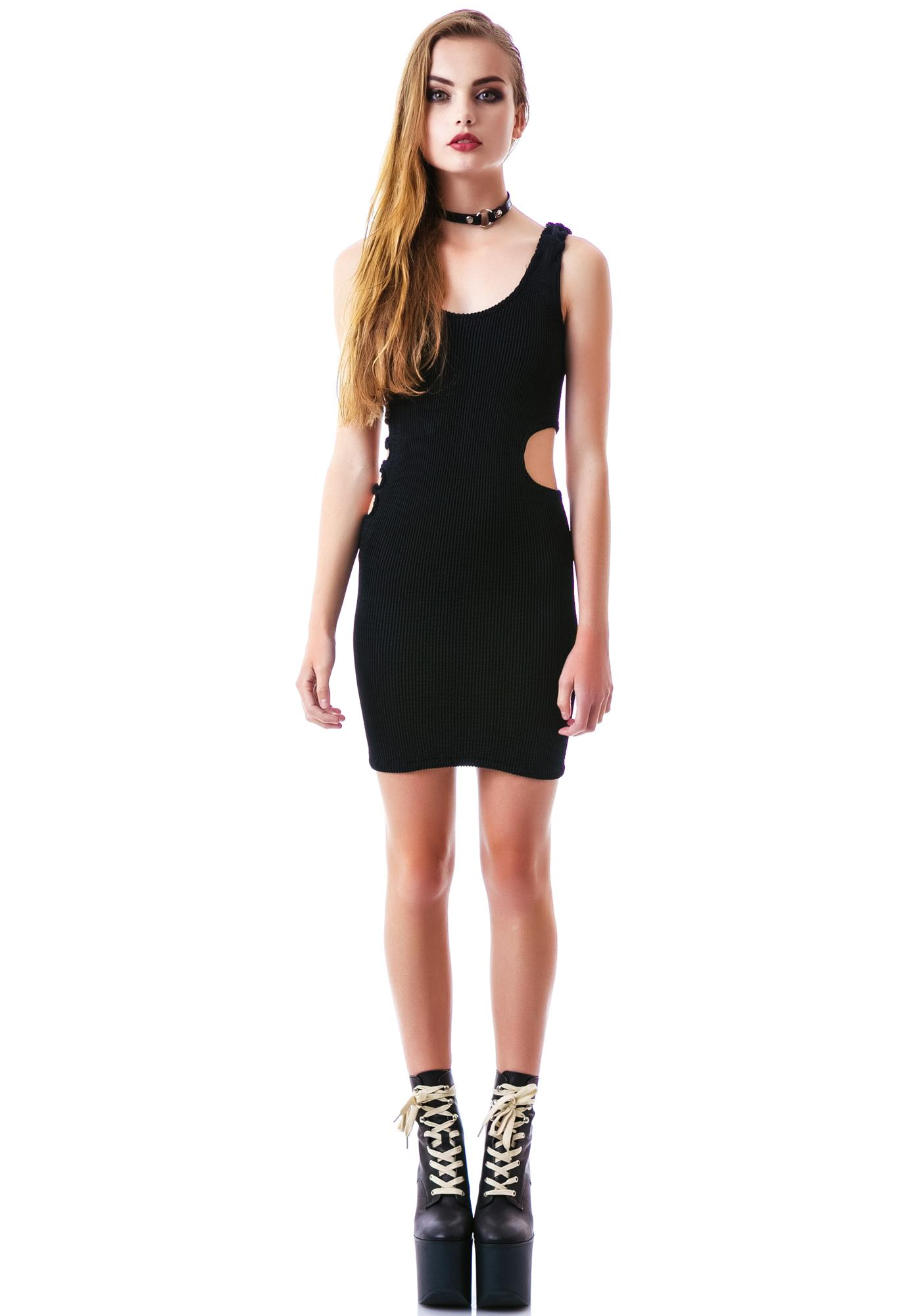 Tripp NYC Prime Pucker Cut Out Dress
