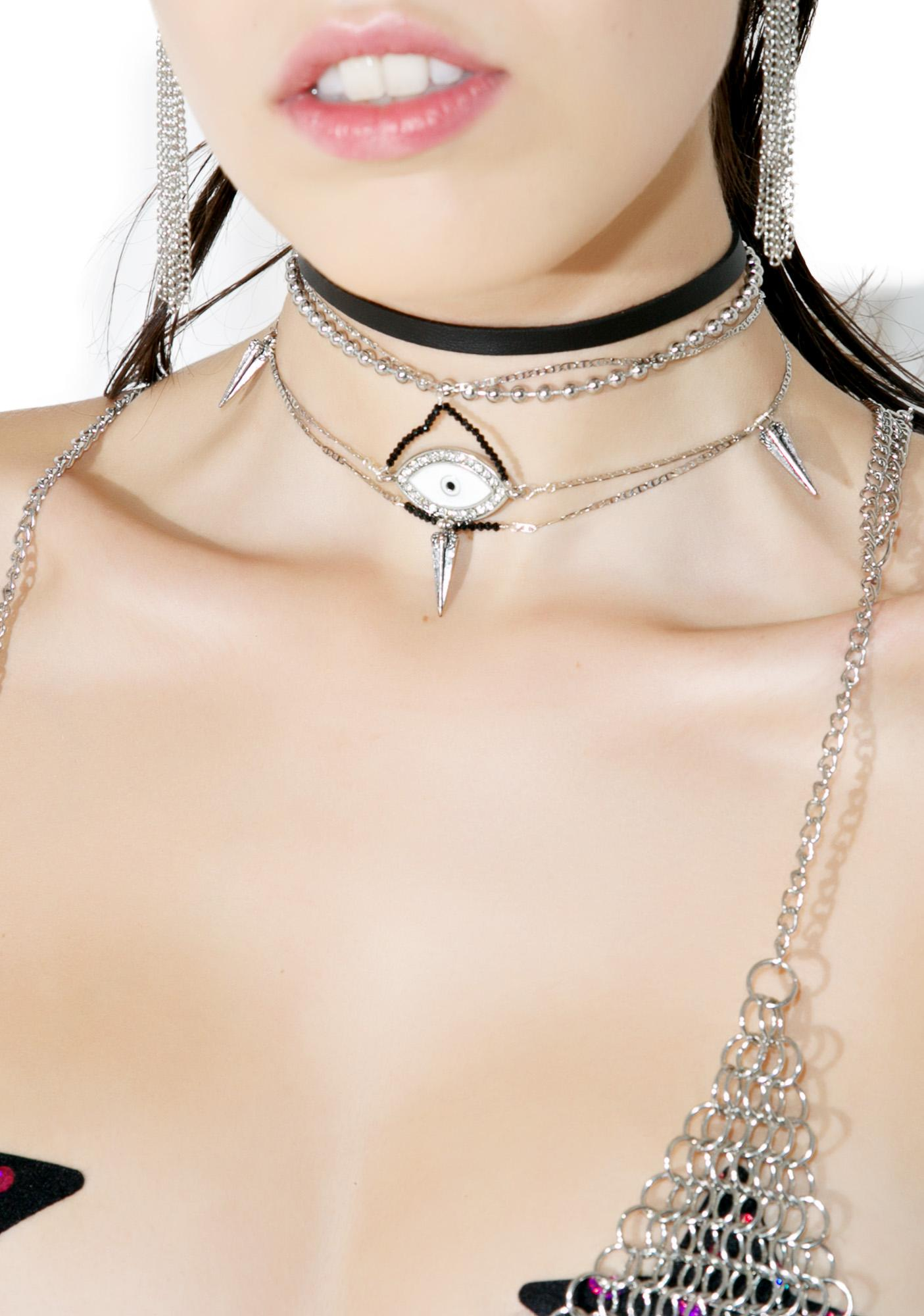 Vidakush Crystal Eye Choker
