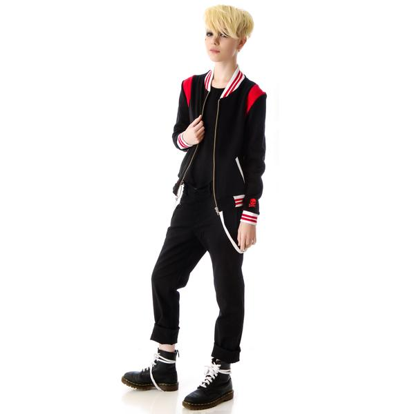 Sourpuss Clothing Jinxed Varsity Jacket