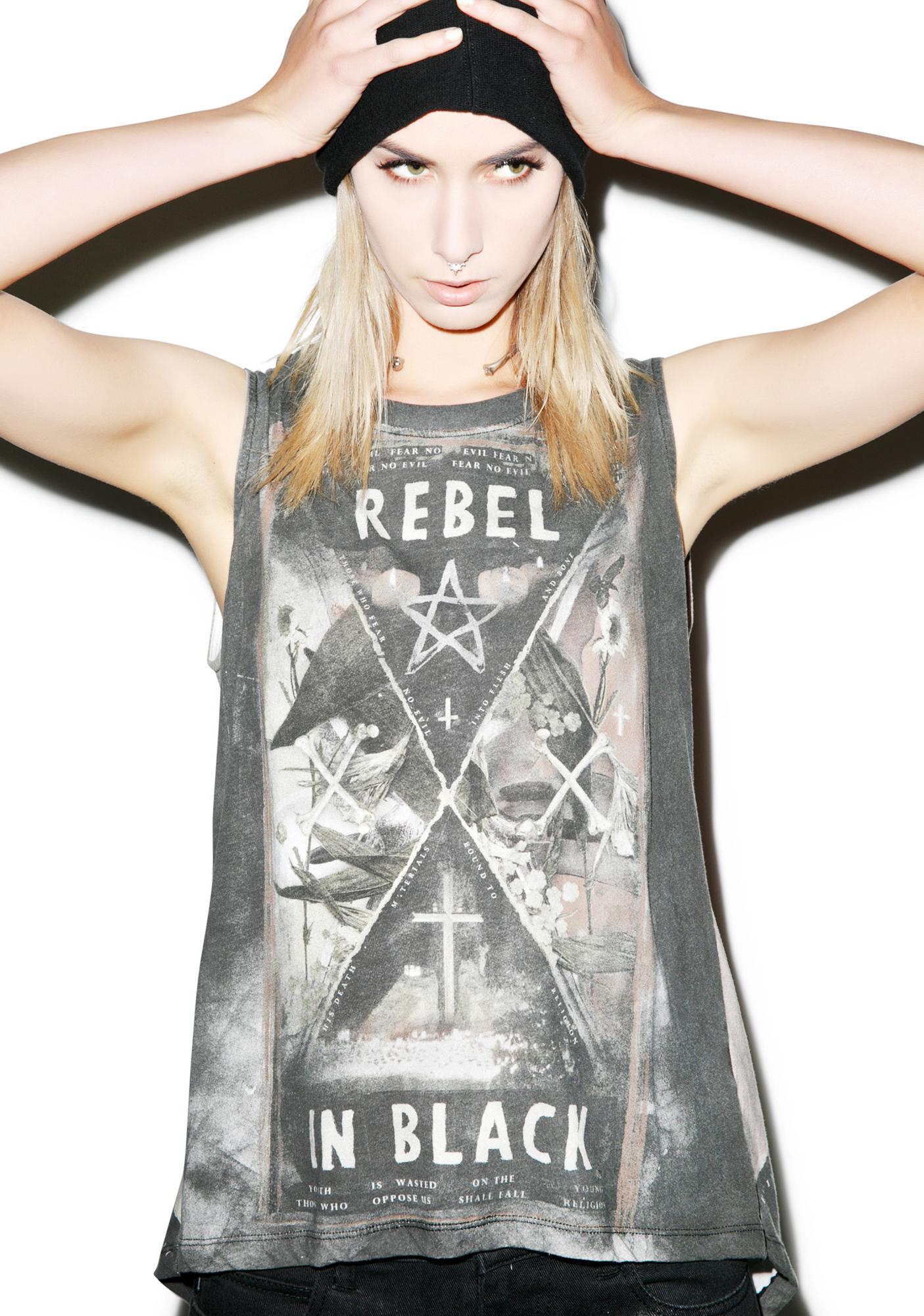 Religion Rebel In Black Top