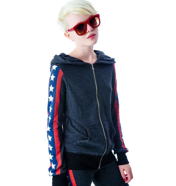 Wildfox Couture Let's Race Track Jacket