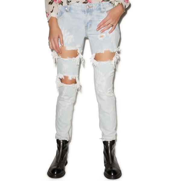 One Teaspoon Thrashed Saint Freebirds Jeans