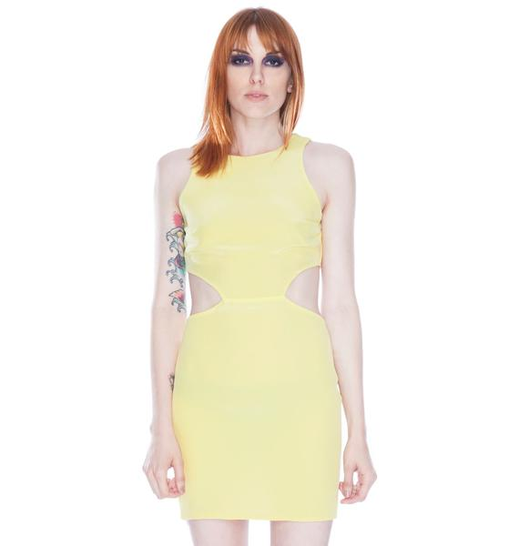 Solid Cut Out Dress