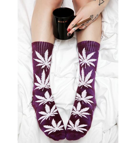 HUF Tie Dye Plantlife Crew Socks
