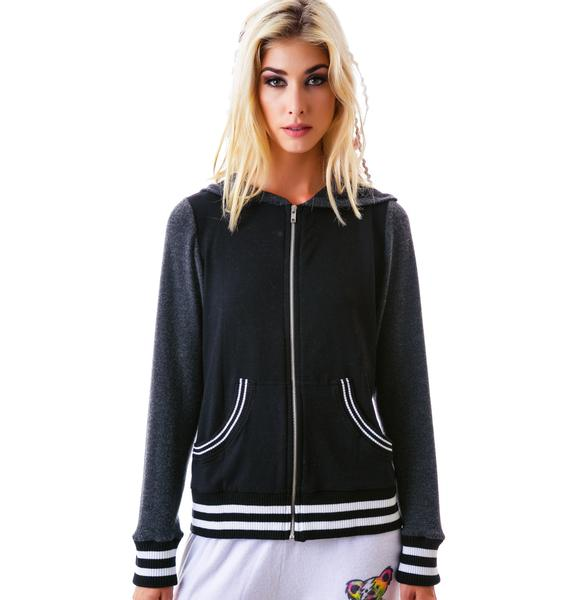 Lauren Moshi Sandra Dead Head Varsity Zip Up