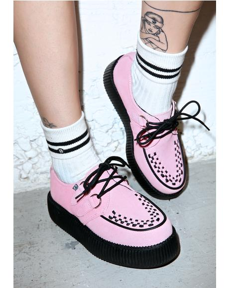 Baby Pink Suede Mondo Creepers