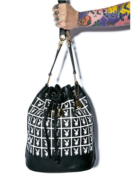 X Playboy Panel Bucket Bag