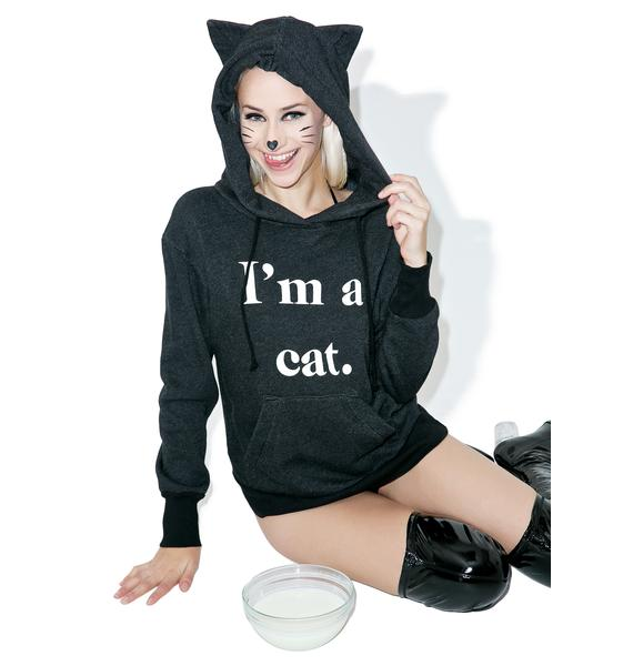 Wildfox Couture Guess What I Am Cuddles Cat Hoodie
