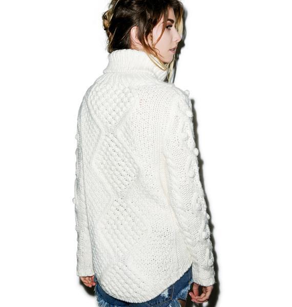 Glamorous Bobble Bobble Cable Sweater