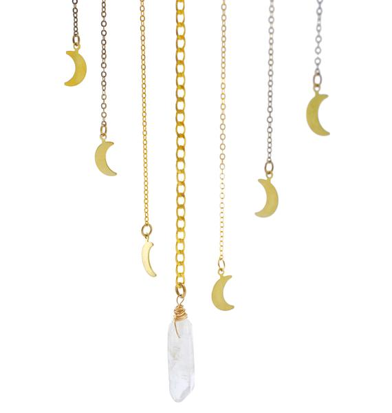 Ebb & Flow Cycles Moon Phase Bib Necklace