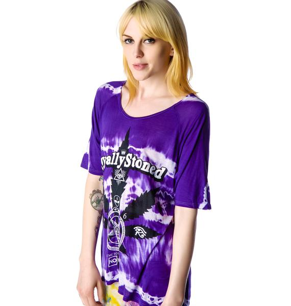 Disturbia No Wave Weed Tie Dye Tee