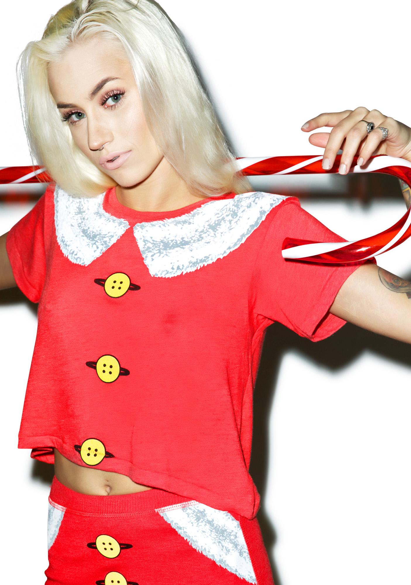 Wildfox Couture Mrs. Claus Middie Tee