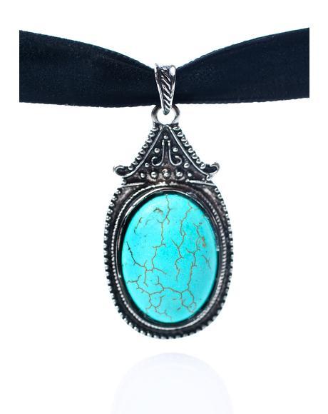 Zaria Turquoise Gemstone Choker