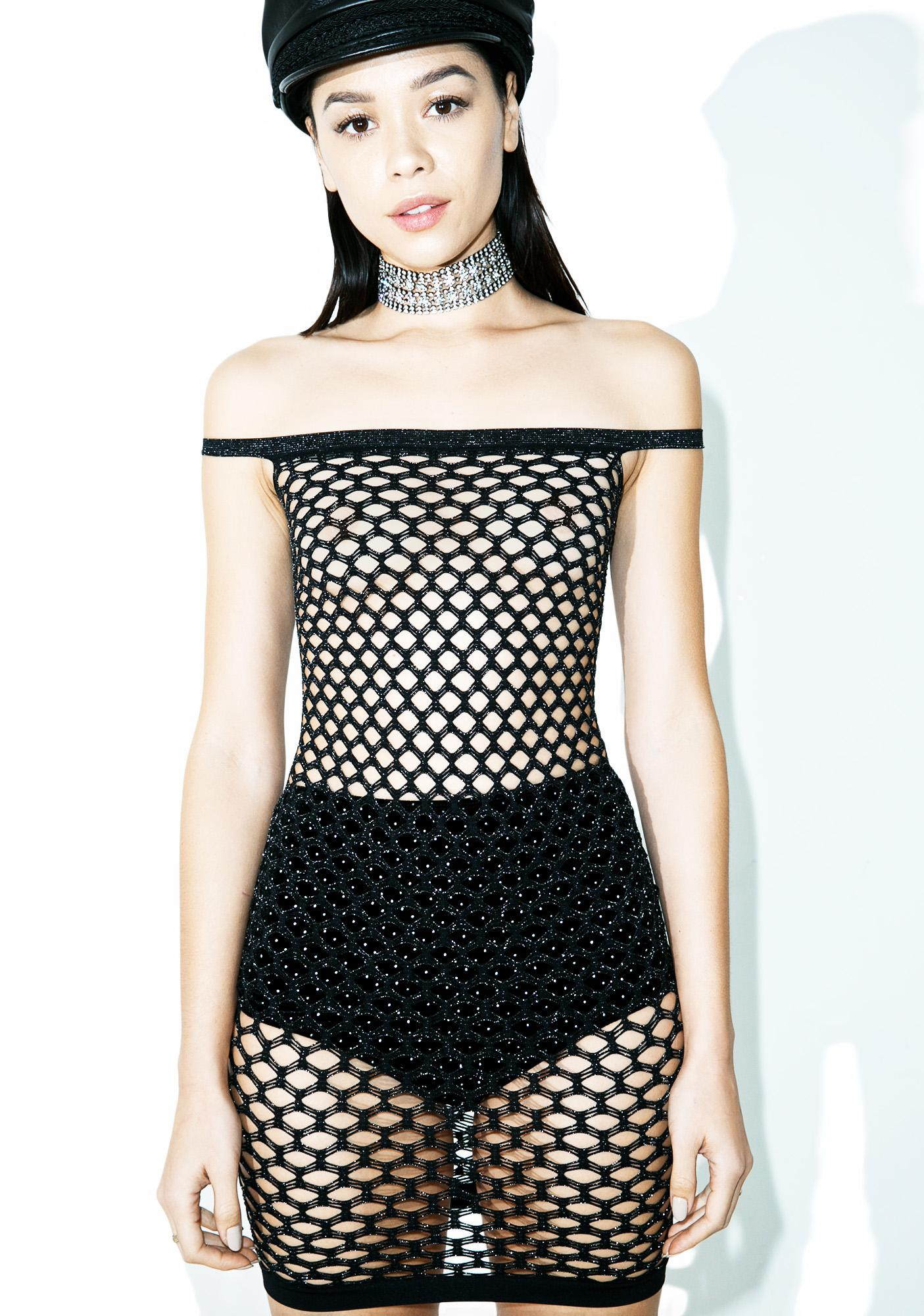 Body Party Glitzy Fishnet Slip