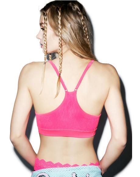 Fancy Schmancy Lace Sports Bra