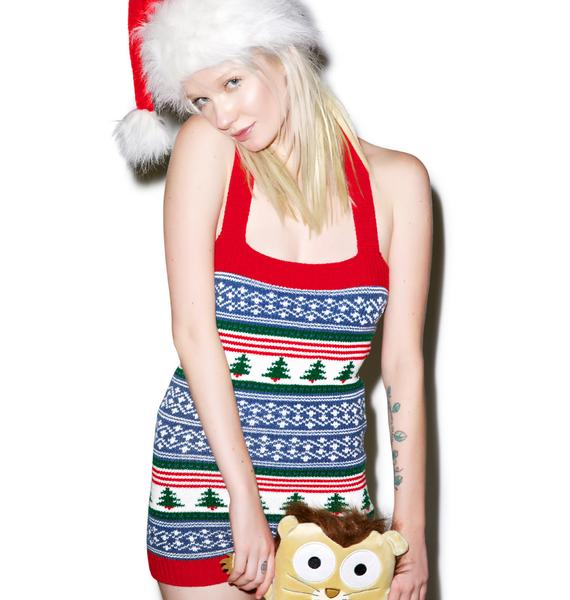 Knitty Kitty The Tree Is Lit Romper