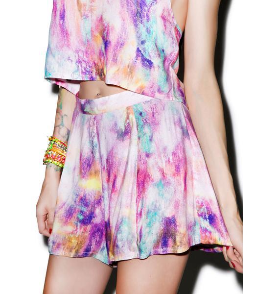Somedays Lovin Memphis Rainbow Flippy Shorts
