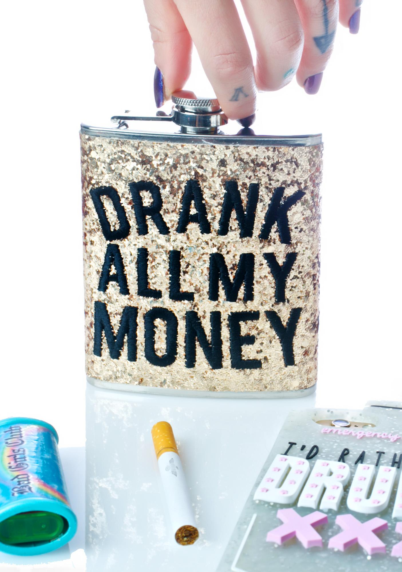 Skinnydip Drank My Money Flask