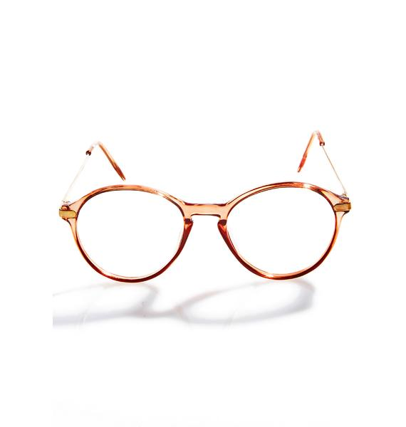 Peach Scholastic Glasses