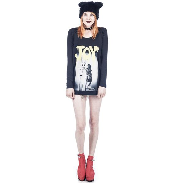 Joyrich Plush Play Dripped Long Sleeve Tee