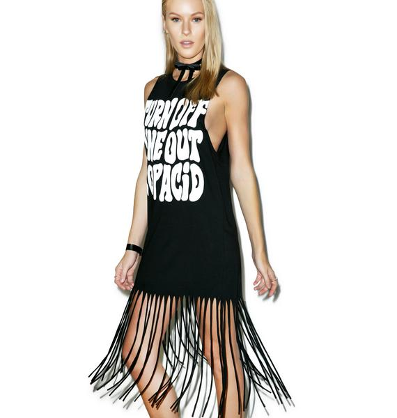 Disturbia Acid Fringe Dress